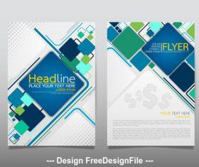 Checkered brochure cover vector