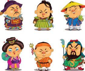 China comic characters vector