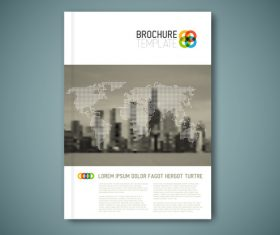 City background brochure cover vector