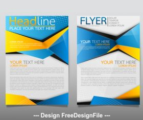 Color flyer cover vector