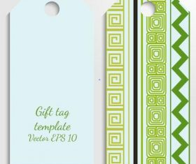 Color tag template vector