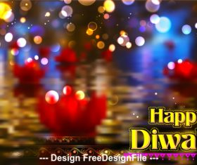 Colorful diwali background vector