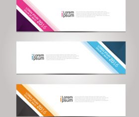 Colorful label banner vector
