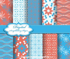 Colorful seamless bright pattern vector