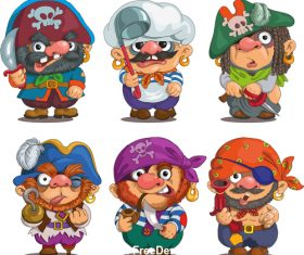 Comic pirate vector
