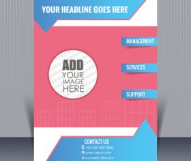 Company flyer cover vector