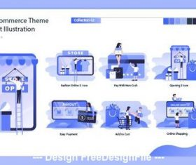 Concept illustration e-commerce vector