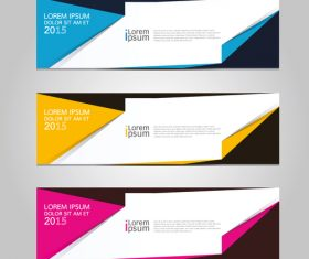 Corner banner design vector
