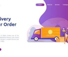 Courier service vector