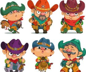 Cowboy comic vector