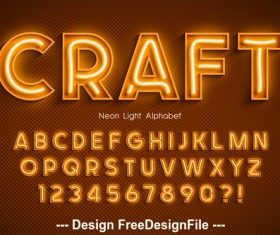 Craft editable font effect text vector