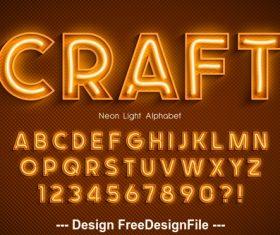 Craft editable font effect text vector