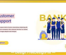 Customer support business concept vector