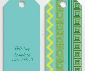 Cyan tag template vector