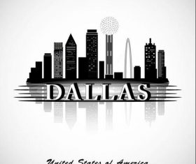 Dallas city silhouette vector