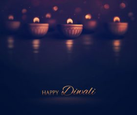 Dark background diwali vector