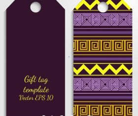 Dark background lace tag template vector