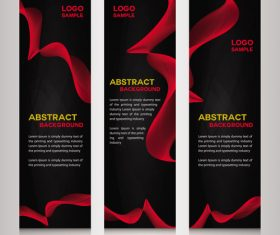 Dark red background banner vector