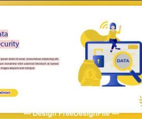 Data security business concept vector