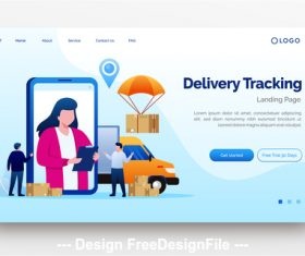 Delivery express website landing page vector