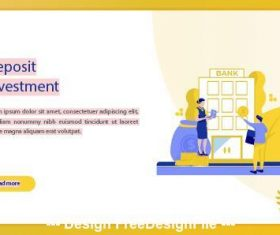 Deposit investment business concept vector