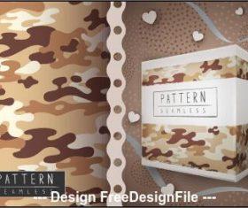 Desert camouflage seamless pattern vector
