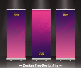 Design roll banner vector