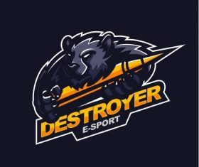 Destroyer gaming logo vector