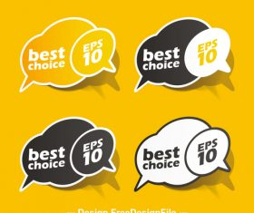 Dialog sticker vector