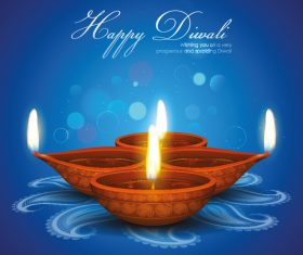Diwali festival candle holder background vector