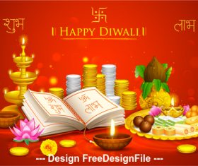 Diwali festival gift background vector