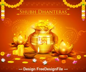 Diwali prosperity and wealth background vector