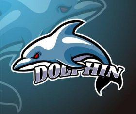 Dolphin logo design vector