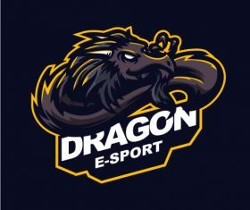 Dragon gaming logo vector