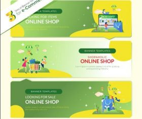 E commerce website banner vector