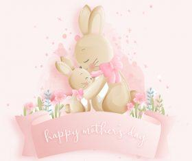 Easter bunny hug vector