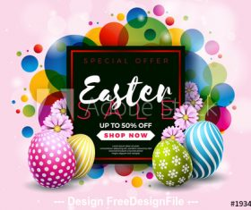 Easter colorful card background vector