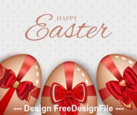 Easter eggs and ribbon vector