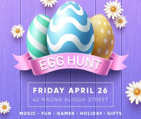 Easter event egg hunt vector
