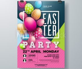 Easter party poster vector