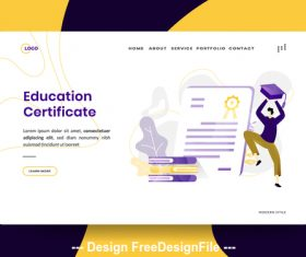 Education Certificate vector
