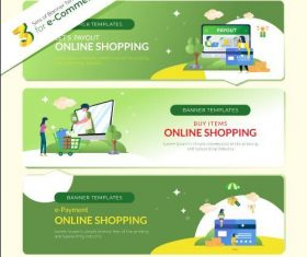 Electronic payment online shopping vector