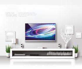 Elegant interior decoration vector