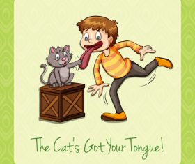 English Idioms cartoon vector