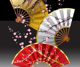 Fan japanese element vector