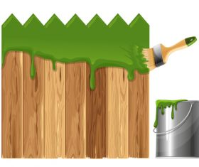 Fence paint vector
