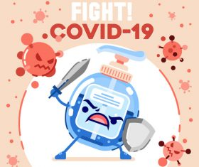 Fight covid-19 illustration vector