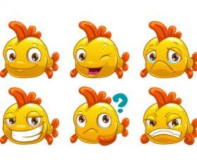 Fish emoji icon vector
