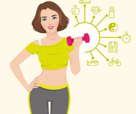 Fitness plan vector