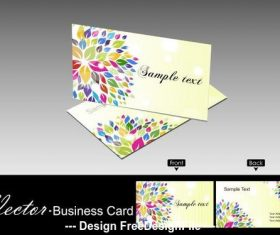 Flower background business card design vector